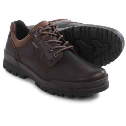 ECCO Track 6 Gore-Tex® Plain Toe Lo Shoes - Waterproof, Leather (For Men) in Coffee - Closeouts