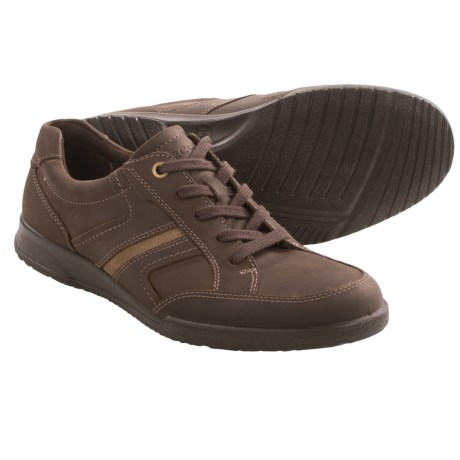 ECCO Transporter Leather Shoes - Lace-Ups (For Men) in Birch/Navajo Brown