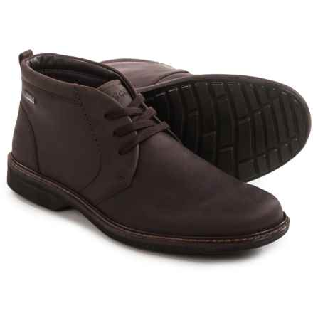ECCO Turn Gore-Tex® Chukka Boots - Waterproof, Leather (For Men) in Mocha - Closeouts