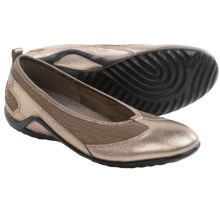 ECCO Vibration II Skimmer Shoes - Leather, Slip-Ons (For Women) in Warm Grey Metallic - Closeouts
