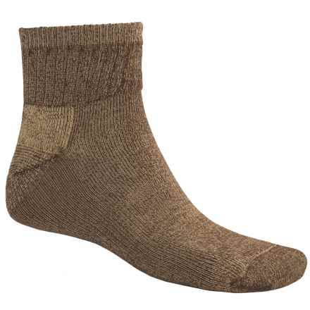 ECCO Wool Blend Casual Socks - Quarter-Crew (For Men) in Brown - Closeouts