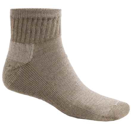 ECCO Wool Blend Casual Socks - Quarter-Crew (For Men) in Taupe - Closeouts