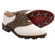 ECCO World Class Gore-Tex® Golf Shoes - Waterproof (For Men) in White/Rustic Brown - Closeouts