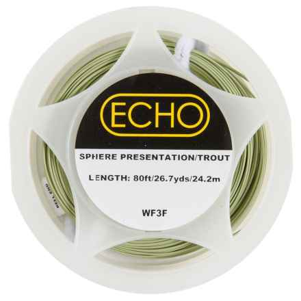 Echo Presentation/Trout Weight Forward Fly Line - 80', Floating in Pale Tan - Closeouts