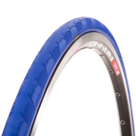 Eclypse Excel-Sport Road Bike Tire - 700x23, Folding, Clincher in Blue/Tan