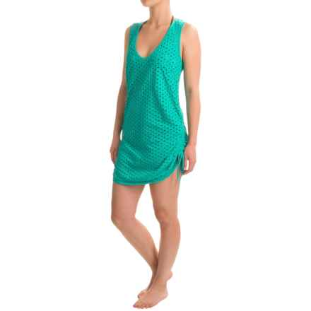 Eco Swim Cutout Adjustable Swimsuit Cover-Up - Organic Cotton, Sleeveless (For Women) in Surf - Closeouts