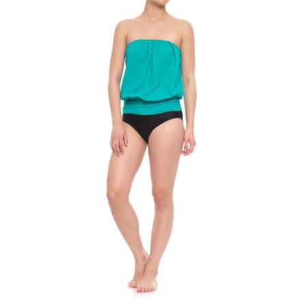 Eco Swim Gathered Blouson Halter Bikini Set (For Women) in Teal - Closeouts