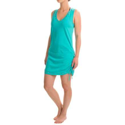 Eco Swim Studded Adjustable Cover-Up - Organic Cotton, Sleeveless (For Women) in Surf - Closeouts