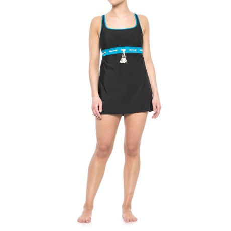 Eco Swim Tassel Swim Dress (For Women) in Sea Blue