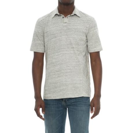 Ecoths Baxter Organic Cotton Polo Shirt - Snap Placket, Short Sleeve (For Men) in Phantom