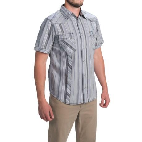 Ecoths Camden Shirt - Organic Cotton, Short Sleeve (For Men) in Silver Lining