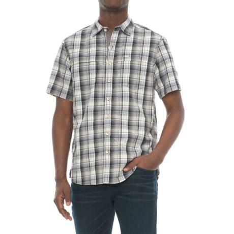 Ecoths Carrington Plaid Shirt - Organic Cotton, Short Sleeve (For Men) in Phantom