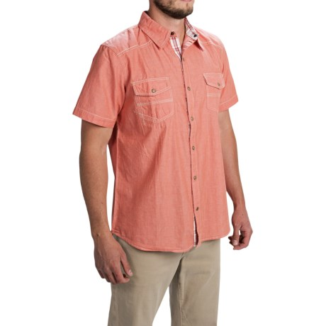 Ecoths Carson Shirt - Organic Cotton, Short Sleeve (For Men) in Ginger Spice