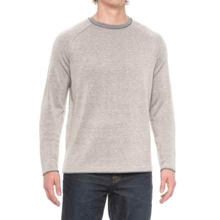 Ecoths Charlie Sweater - Merino Wool (For Men) in Heather Flintstone - Closeouts