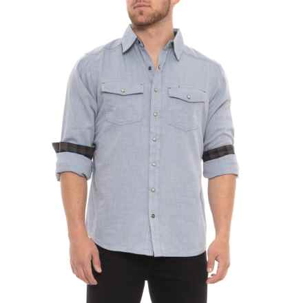 Ecoths Donnelly Snap Front Shirt - Organic Cotton, Long Sleeve (For Men) in Vintage Indigo - Closeouts