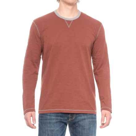 Ecoths Ezra Shirt - Organic Cotton, Long Sleeve (For Men) in Henna - Closeouts