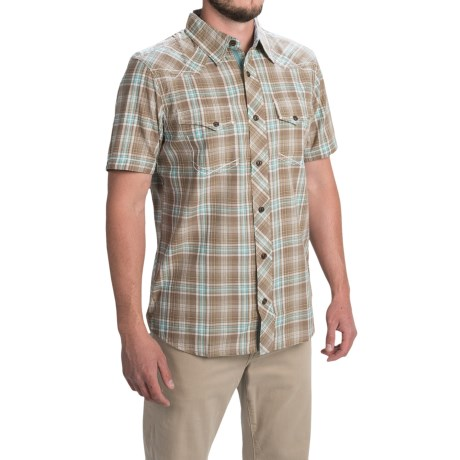 Ecoths Garrett Shirt - Organic Cotton, Short Sleeve (For Men) in Fossil