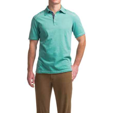 Ecoths Garrick Polo Shirt - Organic Cotton, Short Sleeve (For Men) in Teal - Closeouts