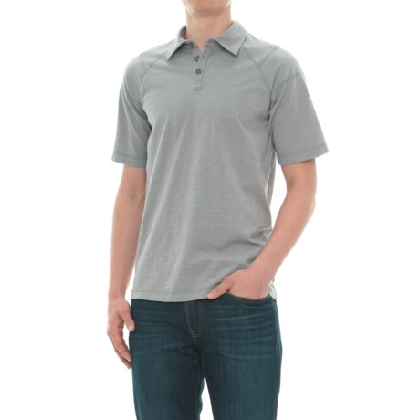 Ecoths Liam Polo Shirt - Organic Cotton, Short Sleeve (For Men) in Griffin Grey