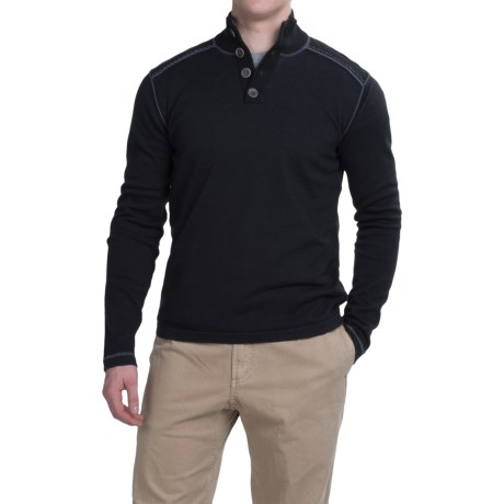 Ecoths Maddox Sweater - Organic Cotton (For Men) in Black