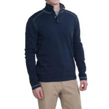 Ecoths Maddox Sweater - Organic Cotton (For Men) in Dress Blues - Closeouts