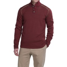 Ecoths Maddox Sweater - Organic Cotton (For Men) in Russet Brown - Closeouts