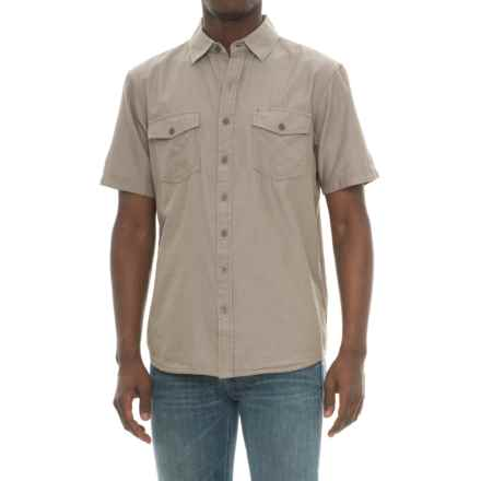 Ecoths Mathis Herringbone Shirt - Organic Cotton, Short Sleeve (For Men) in Brindle - Closeouts