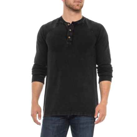 Ecoths Maxwell Henley Shirt - Organic Cotton, Long Sleeve (For Men) in Black - Closeouts