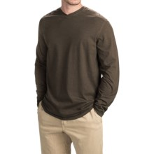 Ecoths McKinney Shirt - Organic Cotton Blend, V-Neck, Long Sleeve (For Men) in Black Olive - Closeouts