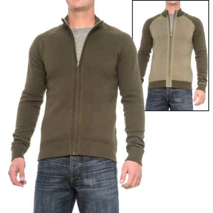 Ecoths Nolan Reversible Sweater - Organic Cotton, Zip Front (For Men) in Tarmac - Closeouts