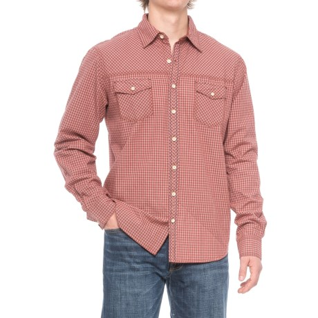 Ecoths Rocco Shirt - Organic Cotton, Long Sleeve (For Men) in Tabasco