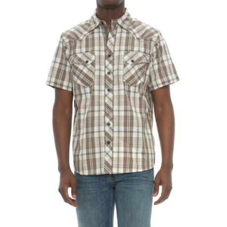 Ecoths Rowan Plaid Shirt - Organic Cotton, Short Sleeve (For Men) in Brindle