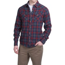 Ecoths Rucker Shirt - Organic Cotton, Snap Front, Long Sleeve (For Men) in Rio Red - Closeouts