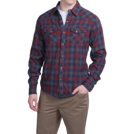 Ecoths Rucker Shirt Organic Cotton, Snap Front, Long Sleeve (For Men)