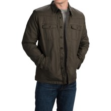 Ecoths Ryker Jacket - Organic Cotton, Button Front (For Men) in Black Olive - Closeouts