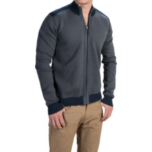 Ecoths Salinger Reversible Sweater - Organic Cotton, Full-Zip (For Men) in Dress Blues - Closeouts