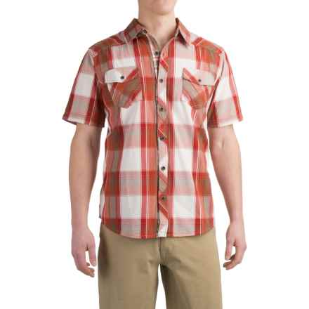 Ecoths Sherwood Shirt - Organic Cotton, Short Sleeve (For Men) in Chipotle - Closeouts