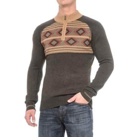 Ecoths Zane Sweater - Merino Wool (For Men) in Heather Tarmac - Closeouts