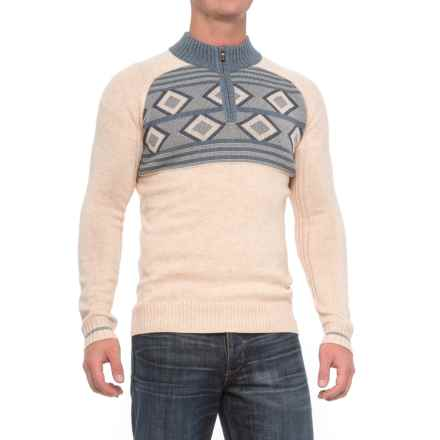 0437853d600c0 Ecoths Zane Sweater - Merino Wool (For Men) in Heathered Oatmeal - Closeouts