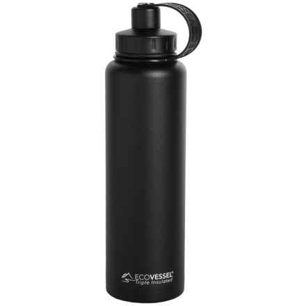 EcoVessel Bigfoot TriMax® Insulated Bottle - 45 fl.oz., Stainless Steel in Black Shadow - Closeouts