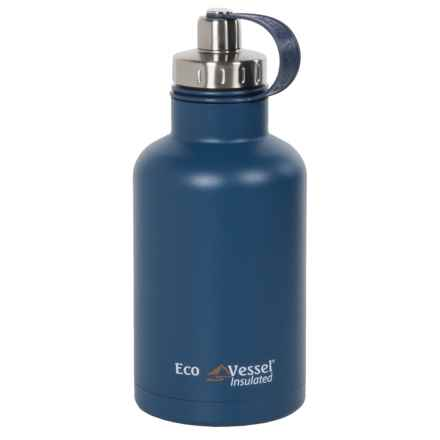 EcoVessel Boss Insulated Growler with Infuser - 64 fl.oz. in Hudson Blue - Closeouts