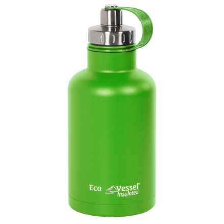 EcoVessel Boss Insulated Growler with Infuser - 64 fl.oz. in Mile High Green - Closeouts