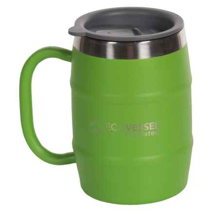 EcoVessel Double-Barrel Insulated Mug - 16 fl.oz., Stainless Steel in Mile High Green - Closeouts