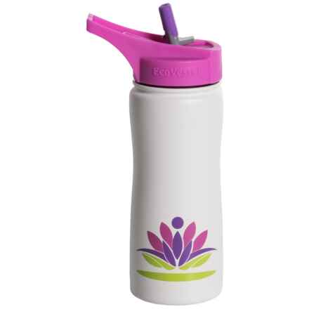 EcoVessel Summit Insulated Water Bottle with Straw - 17 fl.oz., BPA-Free in White Lotus - Closeouts