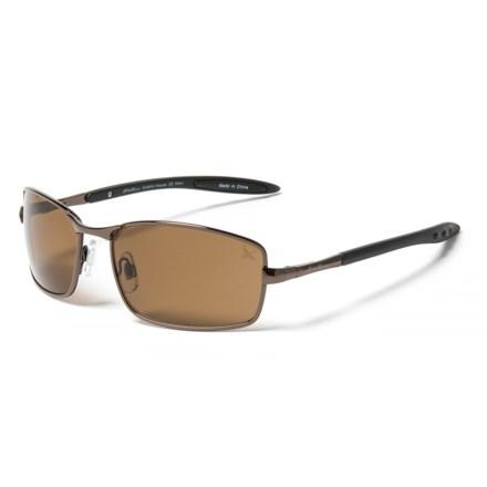 6f279504da Eddie Bauer 61 Metal Navigator Sunglasses - Polarized in Brown