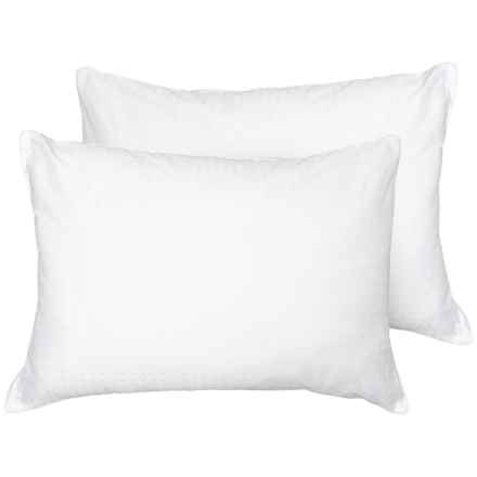 Eddie Bauer Cotton Cover Pillow - 2-Pack, Jumbo, 300 TC in White - Closeouts