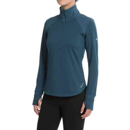 Eddie Bauer Crossover Fleece Shirt - Zip Neck, Long Sleeve (For Women) in Adriatic Blue - Closeouts