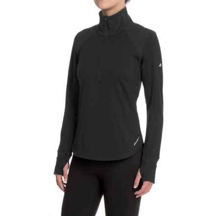 Eddie Bauer Crossover Fleece Shirt - Zip Neck, Long Sleeve (For Women) in Black - Closeouts