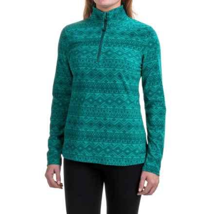 Eddie Bauer Nordic Microfleece Pullover Shirt - Zip Neck (For Women) in Nordic Seapine - Closeouts