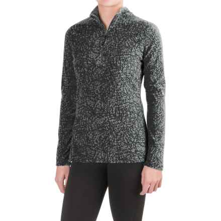 Eddie Bauer Vine Print Fleece Shirt - Zip Neck, Long Sleeve (For Women) in Vine Black - Closeouts